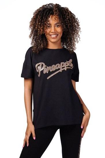 Pineapple Leopard Slide Slit T-Shirt