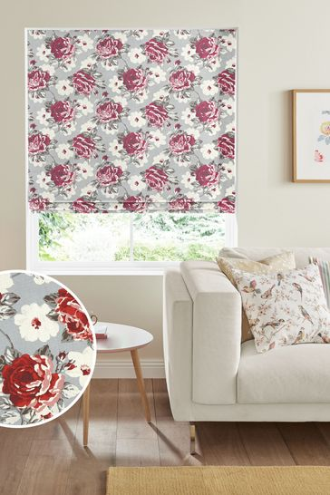 Cath Kidston Red Rose Bloom Made To Measure Roman Blind