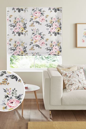 Cath Kidston Cream Vintage Bunch Made To Measure Roman Blind