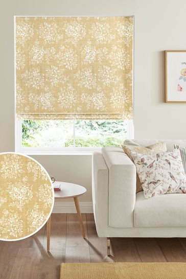 Cath Kidston Yellow Washed Rose Made To Measure Roman Blind