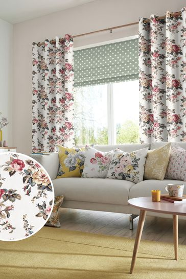 Cath Kidston Cream Garden Rose Made To Measure Curtains