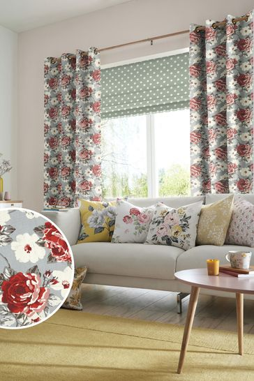 Cath Kidston Red Rose Bloom Made To Measure Curtains