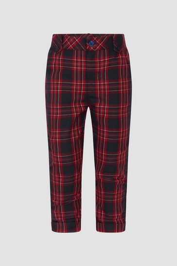 Boys Red/Black Trousers