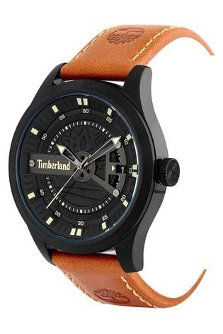 Timberland Northbridge Watch With Dark Brown Leather Strap