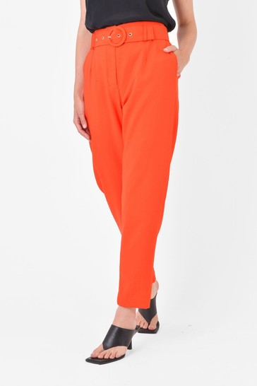 Ro&Zo Orange High Waisted Belted Trousers