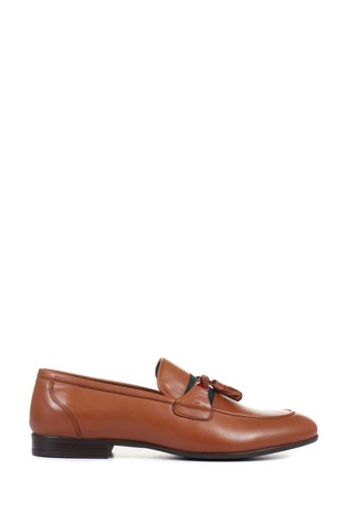 Jones Bootmaker Tan Pascal Men's Leather Tassel Loafers