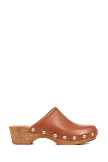 Jones Bootmaker Tan Bronx Ladies Leather Clogs