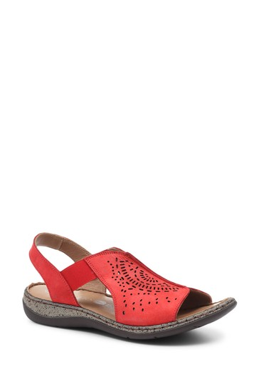 Pavers Ladies Leather Wide Fit Pull-On Sandals