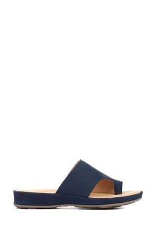 Pavers Ladies Leather Toe Post Sandals