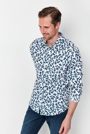 M&Co Watercolour Floral Shirt
