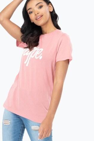 Hype. Womens Pink Script T-Shirt