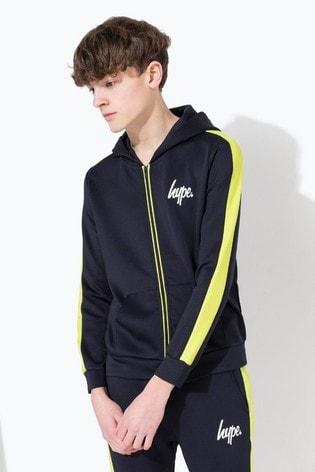 Hype. Kids Navy Mini Script Stripe Track Jacket
