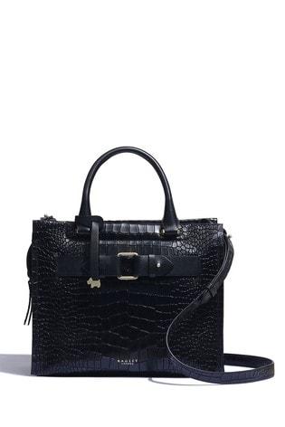 Radley London Agnes Street Faux Croc Medium Zip Top Multiway Bag
