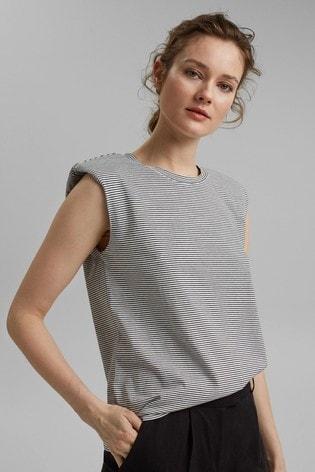Esprit Cream Organic Cotton T-Shirt