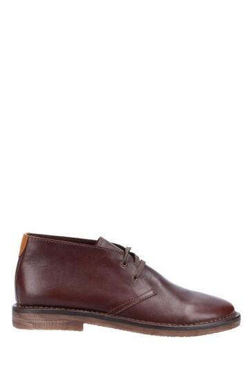 Hush Puppies Brown Samuel Leather Chukka Boot