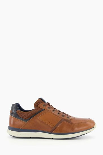 Dune London Brown Thymes Lace-Up Trainers