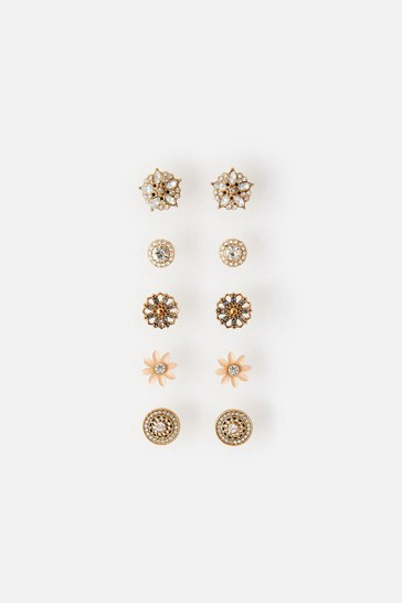 Accessorize Pink Meadow Muse Studs Multipack