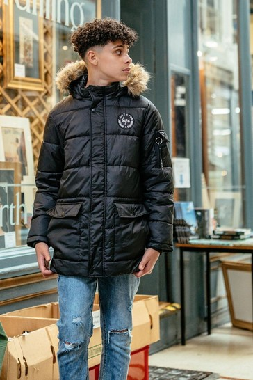 Hype. Kids Black Crest Explorer Jacket