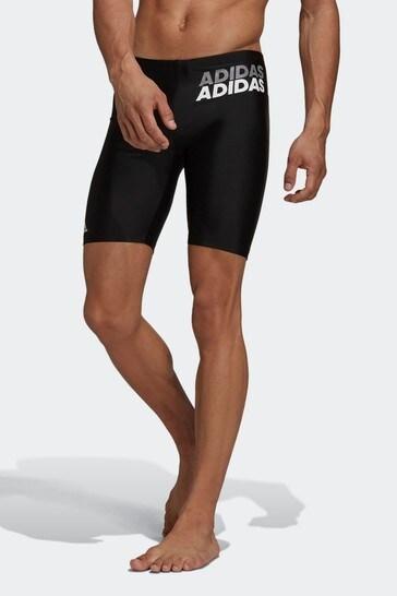adidas Black Lineage Swim Jammers