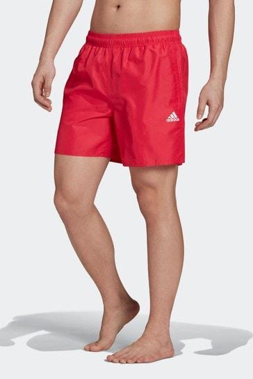 adidas Pink Solid Swim Shorts