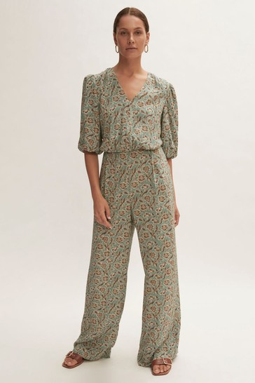 Jigsaw Floral Brocade Jumpsuit