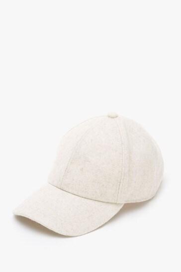 Mint Velvet Beige & Silver Baseball Cap