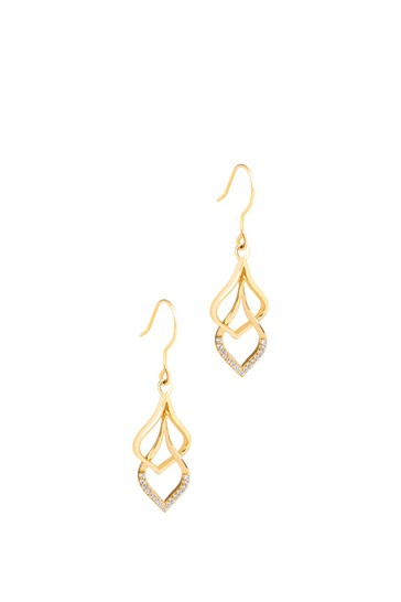 Pure Luxuries London Yanet Yellow Gold Plated Sterling Silver Drop Earrings