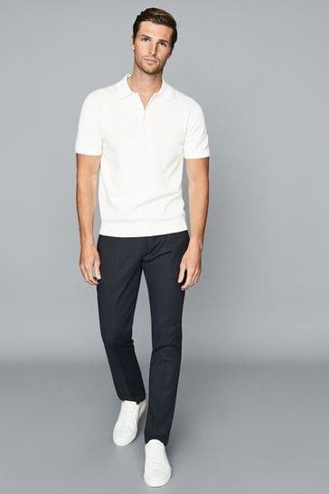 Reiss Navy Eastbury Slim Fit Trousers
