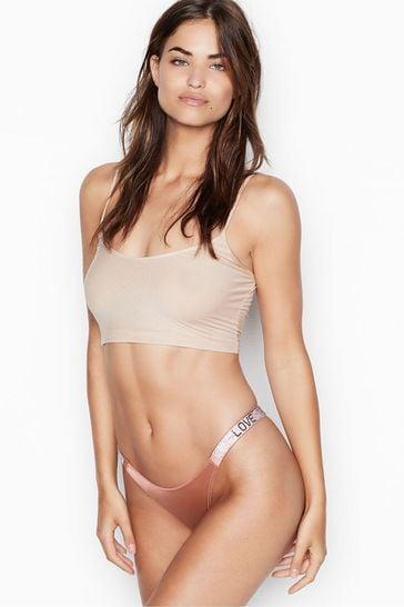 Victoria's Secret Rhinestone Shine Strap Brazilian Panty