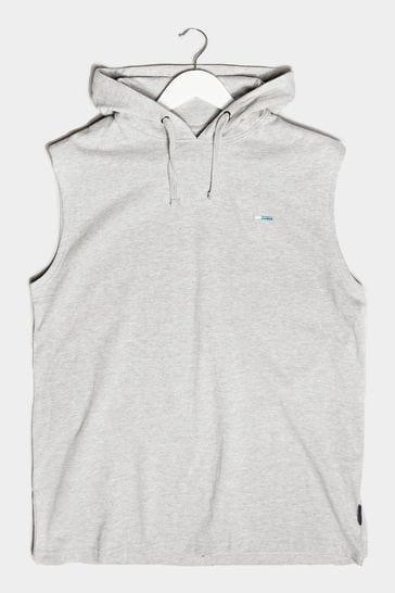 BadRhino Grey Essential Sleeveless Hoodie
