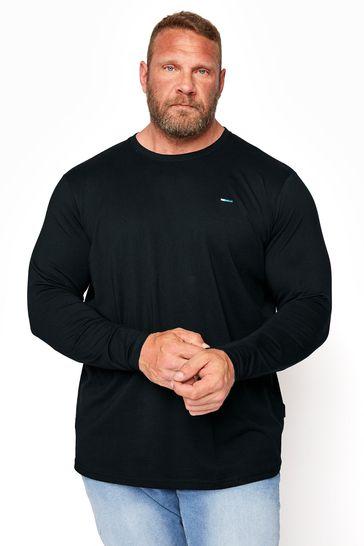 BadRhino Black Plain Long Sleeve T-Shirt
