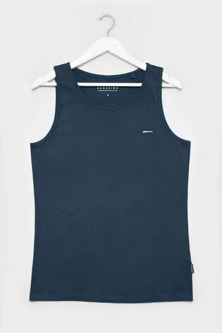 BadRhino Navy Plain Vest Top