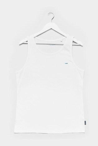 BadRhino White Plain Vest Top