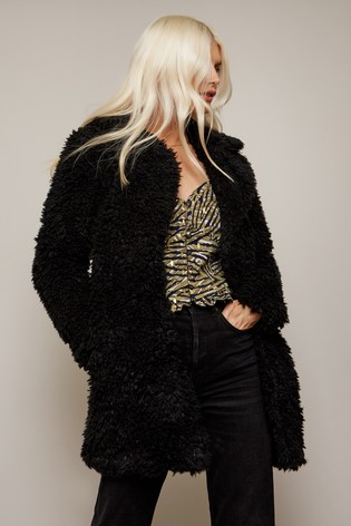 Girls On Film Black Cormac Teddy Coat