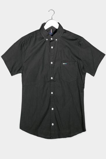 BadRhino Black Essential Short Sleeve Oxford Shirt