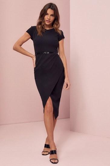 Lipsy Skinny Belt Belted Bodycon Dress