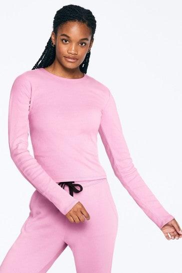 Victoria's Secret PINK Long Sleeve Baby Tee