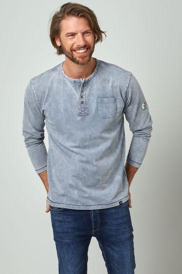 Joe Browns Blue Perfect Pocket Henley Top