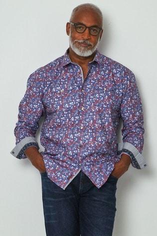 Joe Browns Blue Floral Western Shirt