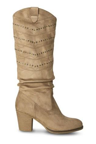 Joe Browns Natural Portobello Studded Boots