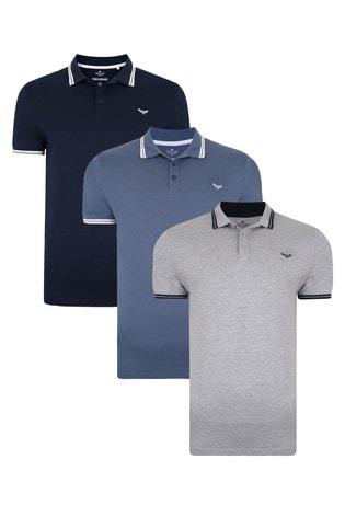 Threadbare Navy Polo T-Shirt Pack Of 3