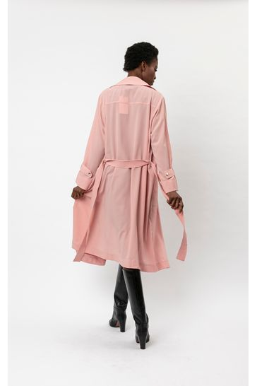 Religion Pink Lightweight Trench With Belt