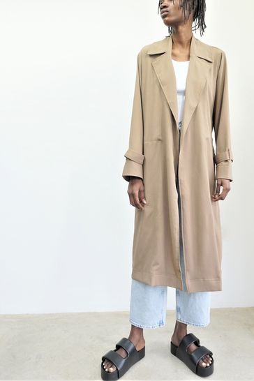 Religion Camel Lightweight Trench With Belt