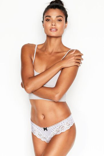 Victoria's Secret Shimmer Lace & Micro Thong Panty