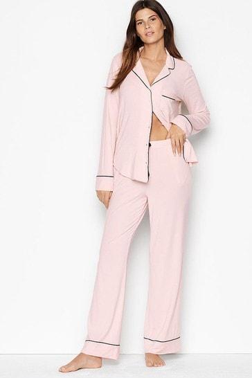 Victoria's Secret Heavenly by Victoria Supersoft Modal Long PJ Set