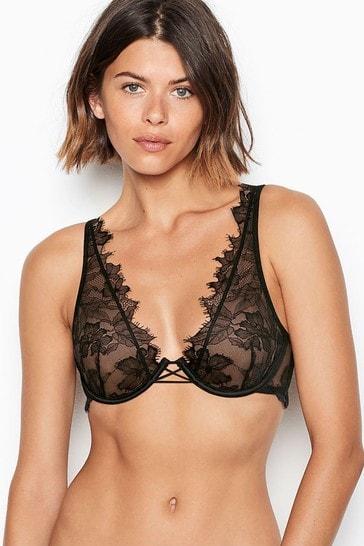 Victoria's Secret Unlined Lace Elongated Bra