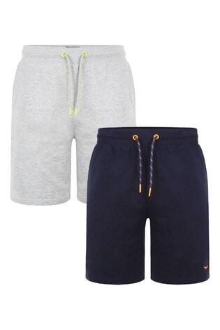 Threadbare Black/Neutral Sweat Shorts Pack Of 2