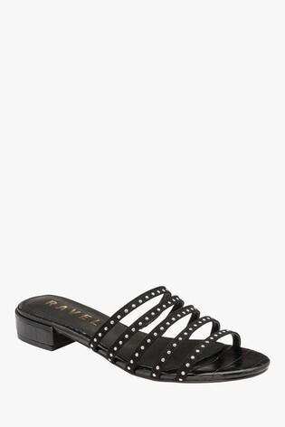Ravel Black Mule Sandals