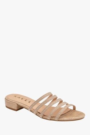 Ravel Cream Mule Sandals