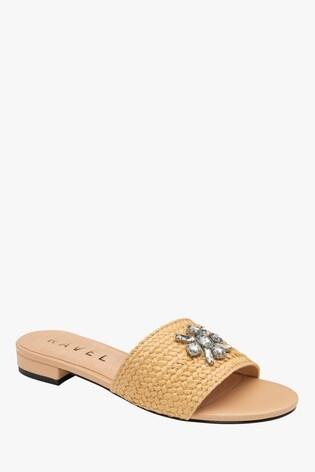 Ravel Nude Mule Sandals